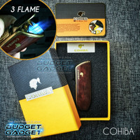 Korek Gas Bara (Cerutu) Cohiba Torch Lighter Triple Jet Flame