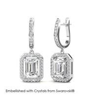 Regal Hoop Earrings - Anting Crystal Swarovski by Her Jewellery