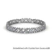 Flowery Bracelet - Gelang Crystal Swarovski by Her Jewellery