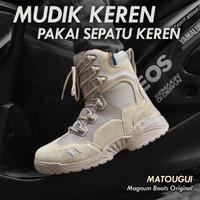 Sepatu 566 Cream 8 inc Tactical Boots Import Bahan Kulit & Cordura