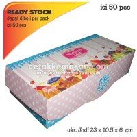 Box Kue / Box Brownies 23x10.5x6 FOODGRADE IVORY 1 pack isi 50 pcs