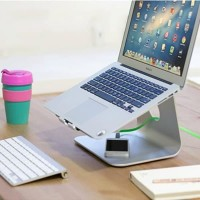 Sale - Macbook Raiser Dock Laptop Stand Almunium Metal Holder