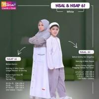 Gamis Anak Set Hijab ORI Nibras NSAP 61 Gamis Aurora Rompi Tempel