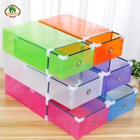 Msjo Shoe Organizer Box Transparent Foldable Shoe Organizer Plastic
