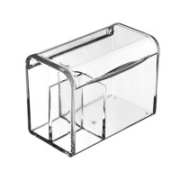 1 pc Storage Box Dustproof Plastic Transparent 3 Compartments Case