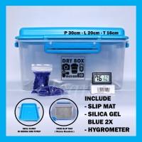 Harga promo dry box drybox medium hygrometer silica gel slip mat   antitipu.com