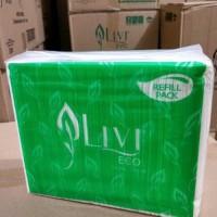 SEDUS Tisu Tissue LIVI REFILL ECO FACIAL Tissu 600s 2pl Berkualitas