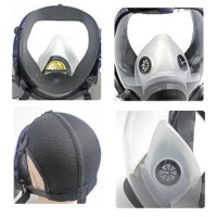 ZW Masker Gas Full Face Tanpa Filter - 6800 KH Hitam Limited