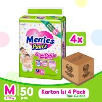 Merries Pants Good Skin M 50S Carton - Popok Bayi/Diapers