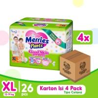 Merries Pants Good Skin XL 26S Carton - Popok Bayi/Diapers