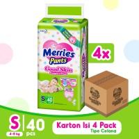 Merries Pants Good Skin S 40S Carton - Popok Bayi/Diapers