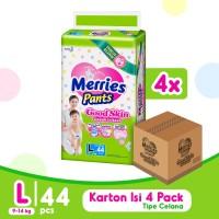 Merries Pants Good Skin L 44S Carton - Popok Bayi/Diapers