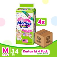 Merries Pants Good Skin M 34S Carton - Popok Bayi/Diapers