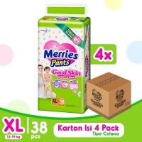 Merries Pants Good Skin XL 38S Carton - Popok Bayi/Diapers