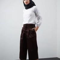 Harga paling baru hijabenka lynn wide cullotes brown cokelat m | antitipu.com