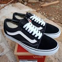 Sepatu Vans Old Skool Classic Black White ORIGINALS 100%