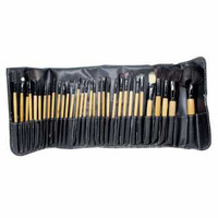 Professional Brush Make Up 32 Set dengan Pouch Hitam MURAH
