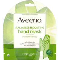 Aveeno Radiance Boosting Hand Mask - Moisture Rich Soy 1Pair