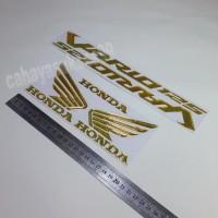 Sticker Motor Timbul VARIO 125 GOLD Stiker Wings Logo Sayap Honda NEW