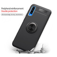 Samsung A70 fingerprint iRing Invisible TPU Soft Case - Free tempered