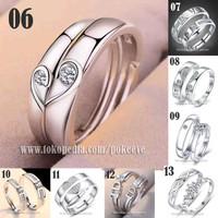 Cincin Couple Perak 925 Pria/Wanita Pasangan/Tunangan/Nikah S925 Ring