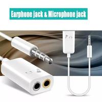 Splitter Audio Mic 2in1 Kabel Jack 3.5mm Male to Dual Female konektor