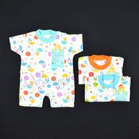 LIBBY Baju Kodok Segiempat / Romper Bayi/Baby Motif (0-3M)