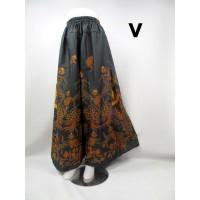 Celana kulot Batik Cutbray batik sogan fit xxl
