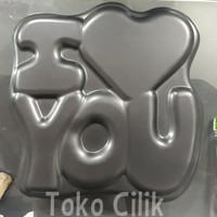 loyang/non stick/teflon/i love you/cetakan/kue/puding/cake/bento/nasi
