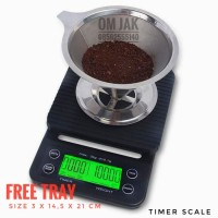 timbangan digital kopi dengan timer / timbangan dapur kue 3kg 0.1g