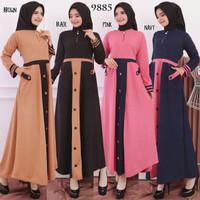Baju Gamis Wanita Terbaru Gamis Remaja Busui Bahan Wafer 9885