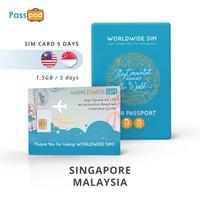SIM Card Singapore & Malaysia 5 Hari Unlimited - simcard