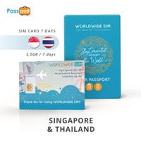 SIM Card Singapore & Thailand 7 Hari Unlimited - simcard