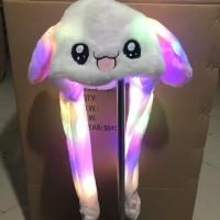 topi kelinci LED bisa gerak