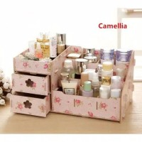 Rak Kosmetik kayu/ Storage Mini Kosmetik Rak Makeup Shabbic Laci Acc