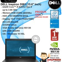 DELL Inspiron 5583 Intel Core i5-8265U/8GB/2TB/VGA 2GB/DVDRW/WIN10HSL