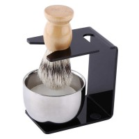 Anbbas Set Tempat Krim Cukur Barber Foam Shaving Handle - 33110