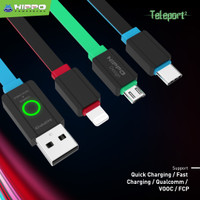 Hippo Teleport 2 Lightning Kabel Data Charger - 120cm