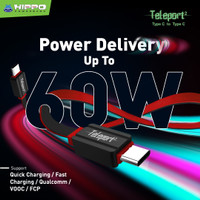 Hippo Teleport 2 C to C Kabel Data Charger - 120cm