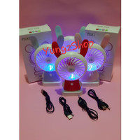 Kipas Lampu Kipas Karakter Mini Genggang Duduk Kipas Recharger Kelinci