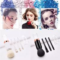 Set 4in1 Make Up Foundation Rectangle Brush Eyebrow Eyeliner K190