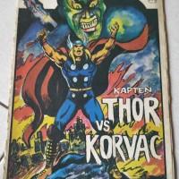 Buku komik lawas KAPTEN THOR VS KORVAC