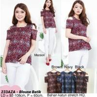 Harga blouse batik cantik modern atasan etnik baju wanita cantik | antitipu.com