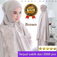 Mukena Dewasa Katun Bordir Siti Khadijah Cantik