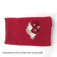 Rosy Hijab Scarf - HIjab Crystal Swarovski by Her Jewellery