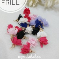 Aplikasi Bunga Frill Mahkota mix warna