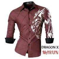 KEMEJA KASUAL / KEMEJA KASUAL PRIA - Dragon X Kemeja Pria Sablon