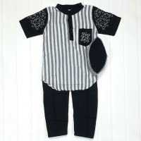 Koko Bordir Anak 3-6 Tahun Warna Hitam (Baju Koko Anak Salur)