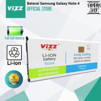 Baterai Vizz Double Power Original Samsung Galaxy Note 4 N910 Batre