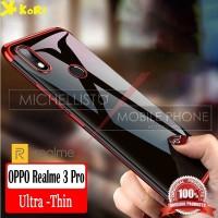 Case Realme 3 Pro 6.3 inch KoRi Clear Plating List Chrome Soft Tpu